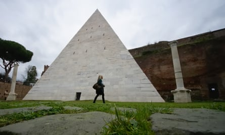 The Pyramid of Cestius in Rome is the city's only such monument.