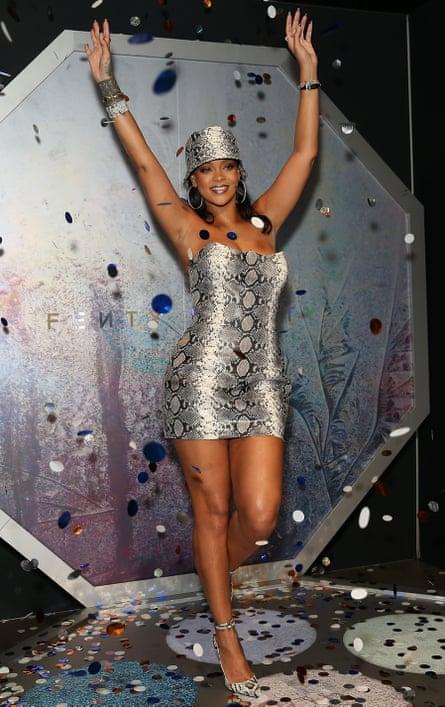 Rihanna at a Fenty Beauty event.