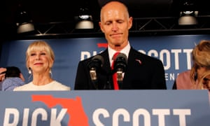 Republican governor Rick Scott is running for the US Senate.