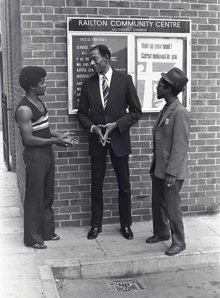 Olympian, pilot, surgeon … Arthur Stanley Wint, the Jamaica High Commissioner visiting Brixton.