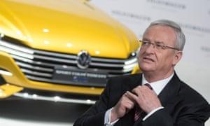 Former CEO of German car manufacturer Volkswagen (VW), Martin Winterkorn.