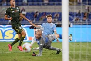 Immobile fires wide against Brescia.