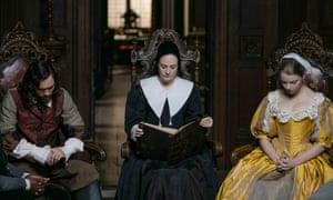 The BBC adaptation of Jessie Burton's The Miniaturist with (from left) Alex Hassell, Romola Garai and Anya Taylor-Joy.
