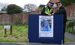Police put up a missing person notice for Gaia Pope.