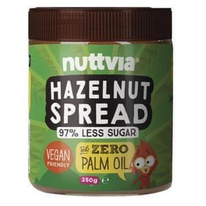 Jar of Nuttvia hazelnut spread