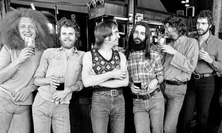 Dinner with Elton, party with Cher … from left, Hamish Stuart, Alan Gorrie, Onnie McIntyre, Roger Ball, Robbie McIntosh, Malcolm Duncan in 1973.