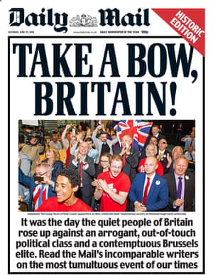 Daily Mail Saturday 25th June 2016