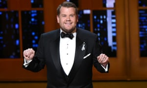An outsider … James Corden received a barrage of criticism.