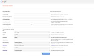 صفحة البحث المتقدم من Google هي أداة للتنقل بشكل صحيح في النتائج.كيف يمكنني تحسين استخدام بحث Google؟