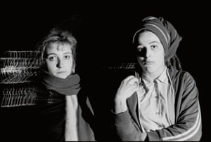 Viv Albertine and Ari Up on tour with the Slits from London.