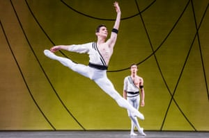 'Off-the-shoulder': Tristan Dyer and James Hay in Symphonic Variations.