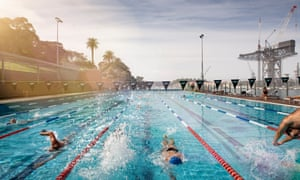 JOSEF NALEVANSKYSydney - 22 April 2014: People pictured at the Andrew (Boy) Charlton Aquatic Centre swimming pool.