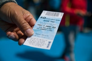 A ticket to the tournament for day one.