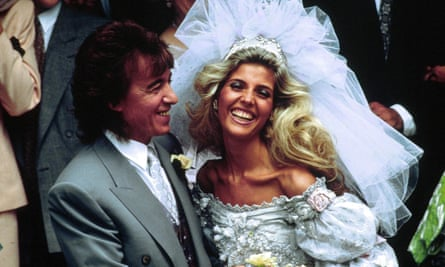 Bill Wyman and Mandy Smith on their wedding day in 1989.
