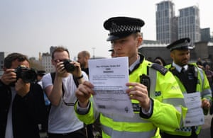 Officer brandishes Public Order Act