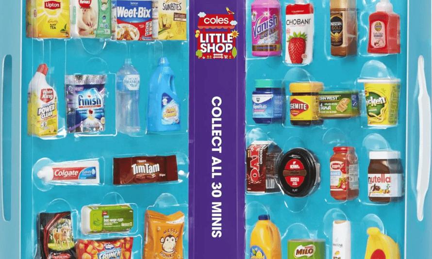 Coles Little Shop miniature product promotion.