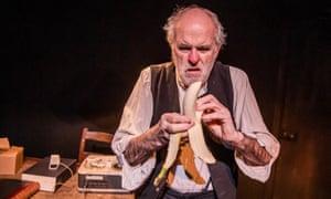 James Hayes in Krapp's Last Tape at Jermyn Street theatre.