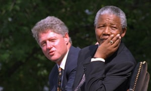 President Bill Clinton and Nelson Mandela at the 4 July ceremonies in Philadelphia, 1993.