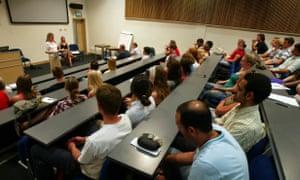 A university lecture theatre