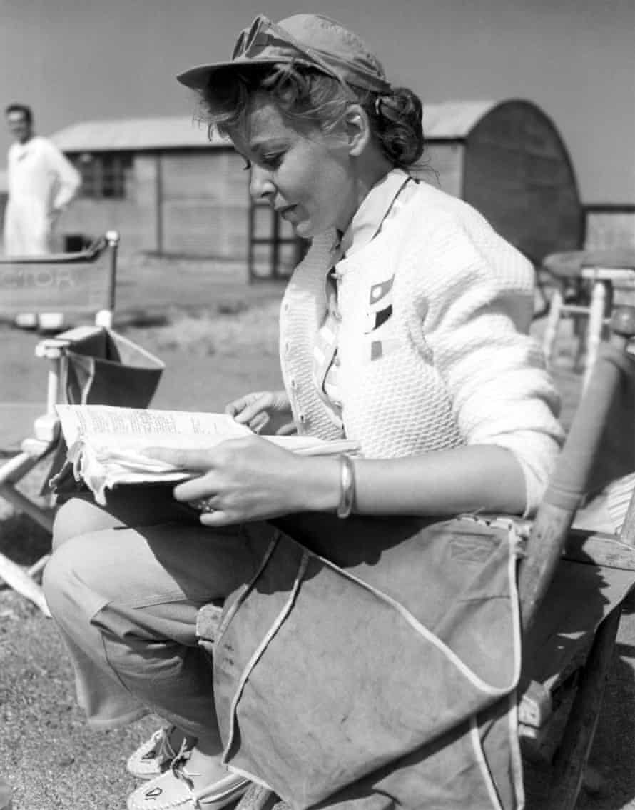 Director Ida Lupino on the set of The Hitch-Hiker, 1953.