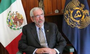 Enrique Luis Graue Wiechers, the new rector of the public Universidad Nacional Autónoma de México.