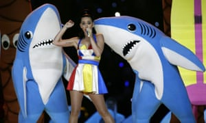 Katy Perry and the sharks.
