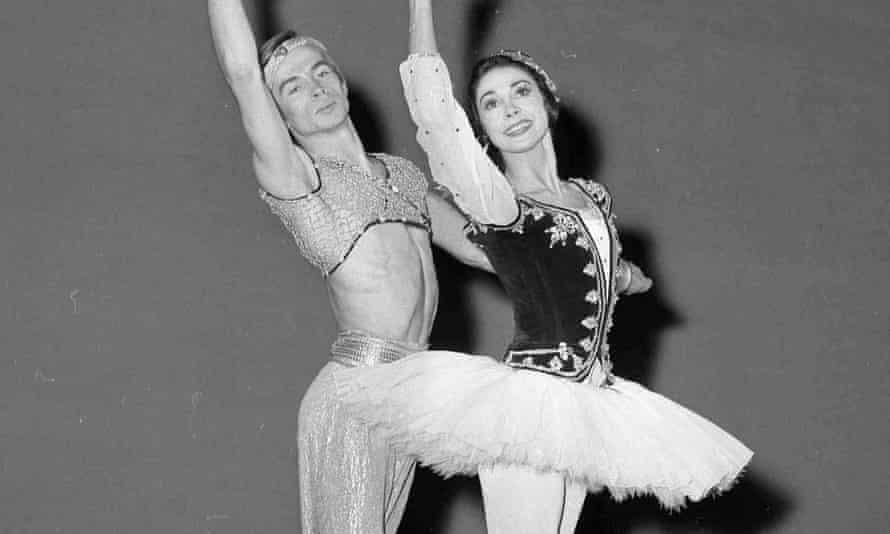Rudolf Nureyev and Margot Fonteyn during a rehearsal of Le Corsaire, 1962.