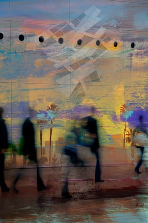 Sundown Photomontage exploring a Los Angeles heatwave http://stevenirwinphotomontage.crevado.com/