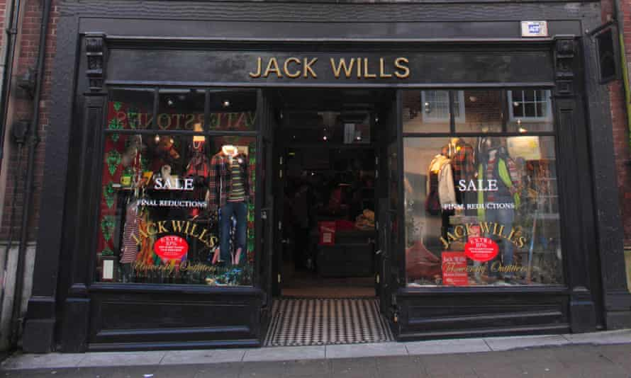 A Jack Wills clothes shop in Winchester.