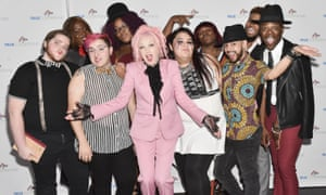 Cyndi Lauper and True Colors Fund members at a gala in Hollywood this month.