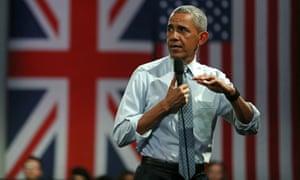 Barack Obama in the UK in April