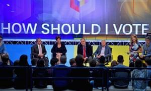 Victoria Derbyshire hosts the BBC's first televised EU referendum debate in Glasgow