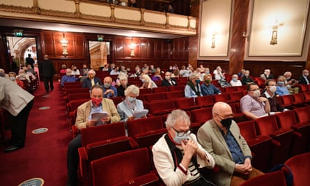 Members of a socially distanced audience in September at London's Wigmore Hall