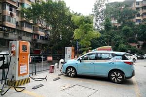 A charging station in Guangzhou