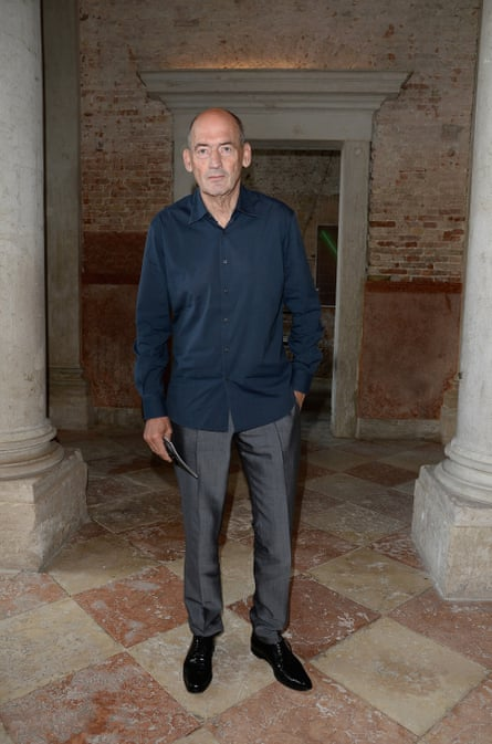 Dutch architect Rem Koolhaas, who keeps his phone in his sock to maintain the line of his trousers
