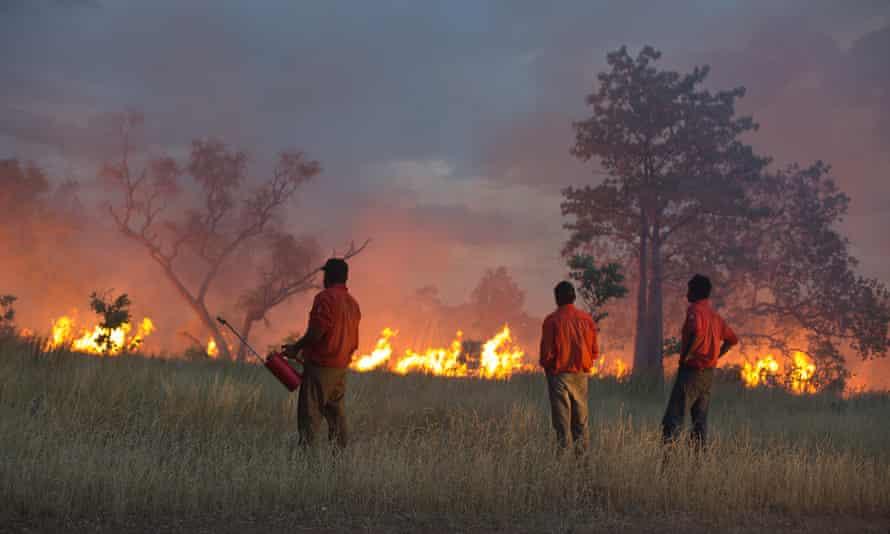 Kija Rangers conduct prescribed burning in the East Kimberley, 2019