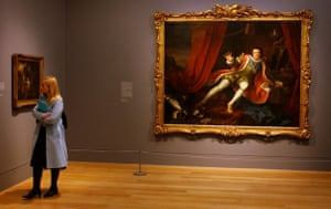 A visitor at Tate Britain wanders past the Hogarth's painting David Garrick As Richard III, owned by the Walker Art Gallery, Liverpool, in 2007.
