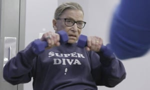 Ruth Bader Ginsberg had a reputation for being physically as well as mentally tough, as here in a still from the 2018 documentary RBG.