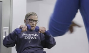 Ginsberg working out in a scene from the 2018 documentary RBG.