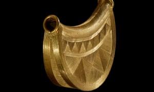 Gold sun pendant