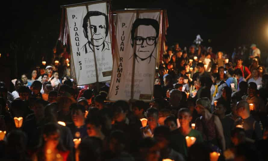 Salvadorans commemorate the murder of six Jesuit priests and two women at UCA in San Salvador