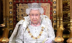 Queen Elizabeth delivers the Queen's speech at the last state opening of parliament in October