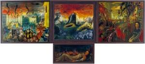 The 1,000-year Reich triptych, 1933-38, by Dresden painter Hans Grundig.