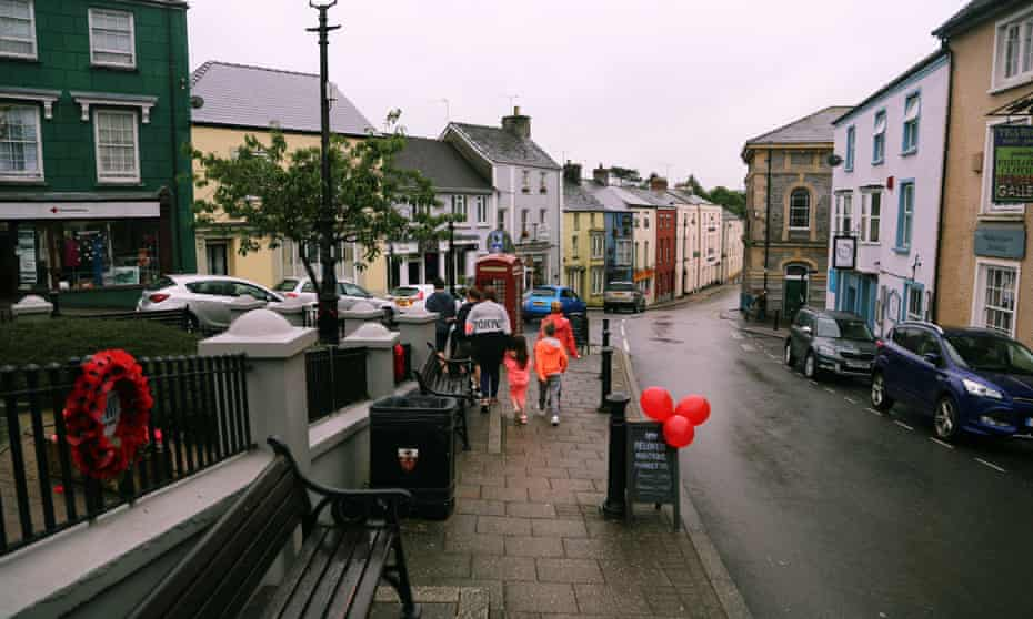 The small town of Narberth (population 2,400) is the new home of a seven-strong family.
