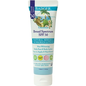 Badger's Broad Spectrum sunscreen lotion