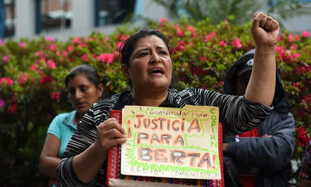 Berta Cáceres protest