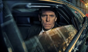 Hugh Laurie in David Hare's BBC series Roadkill.
