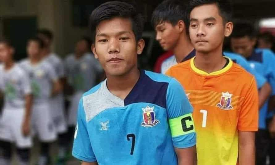 Chit Bo Bo Nyein, the captain of Hantharwady United under-21s, was shot and killed on 27 March.