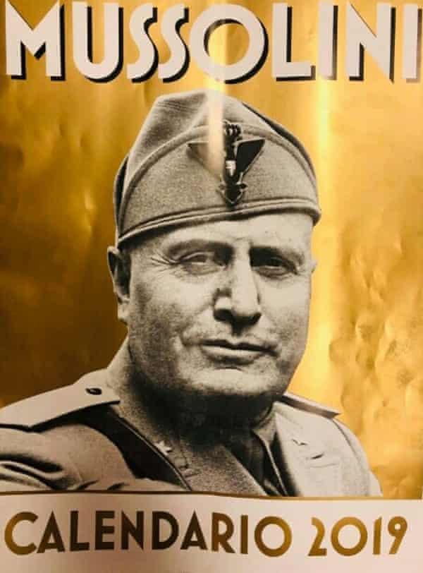 A Mussolini 2019 calendar on sale in Rome.