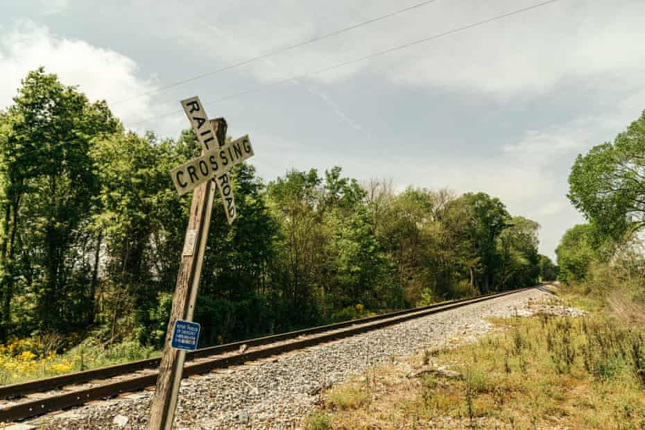 A railroad leads into the Arrowhead landfill in Uniontown.
